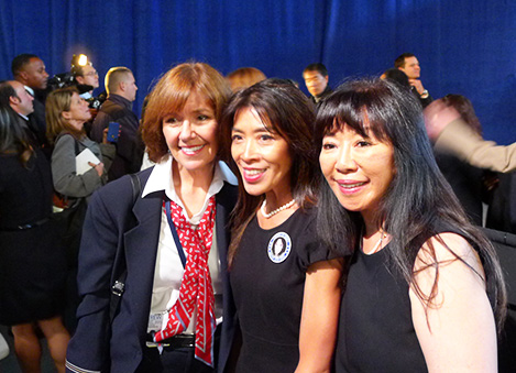 Julie Frederick with Ong Sisters