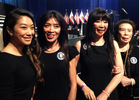 Ong family at recreation ceremony dedication