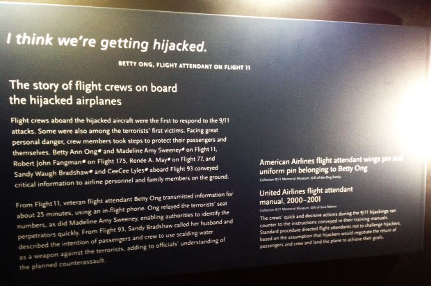 Sign in the 9/11 Museum