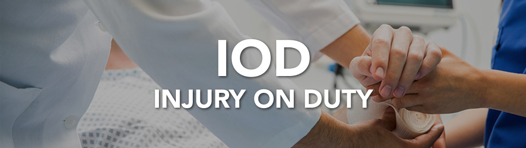 Injury on Duty (IOD) page