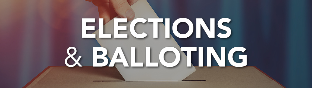 Elections and Balloting page