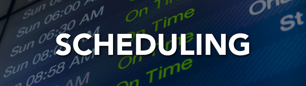 Scheduling Department page